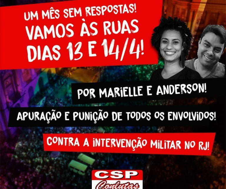 CSP-Conlutas convoca jornada de lutas em 13 e 14 de abril