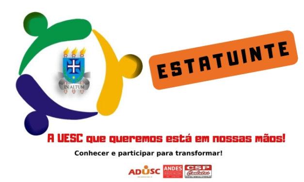 ADUSC convida professores para participar do processo de Instalação das Unidades Estatuintes