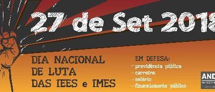 Dia Nacional de Luta das Estaduais e Municipais será em 27 de setembro