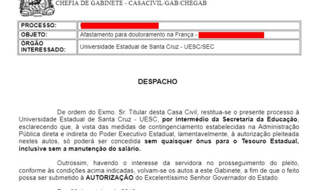 DENUNCIA: Rui Costa desrespeita legislação e impede qualificação docente