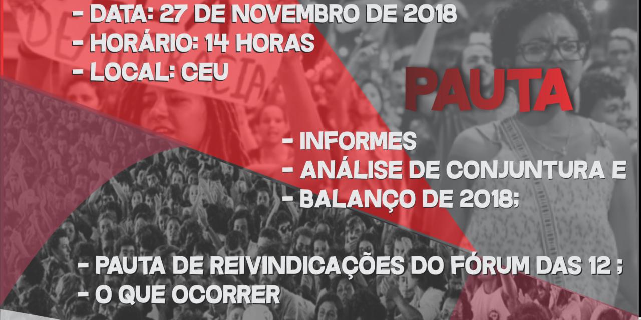 ADUSC, AFUSC e DCE convidam comunidade acadêmica para plenária unificada