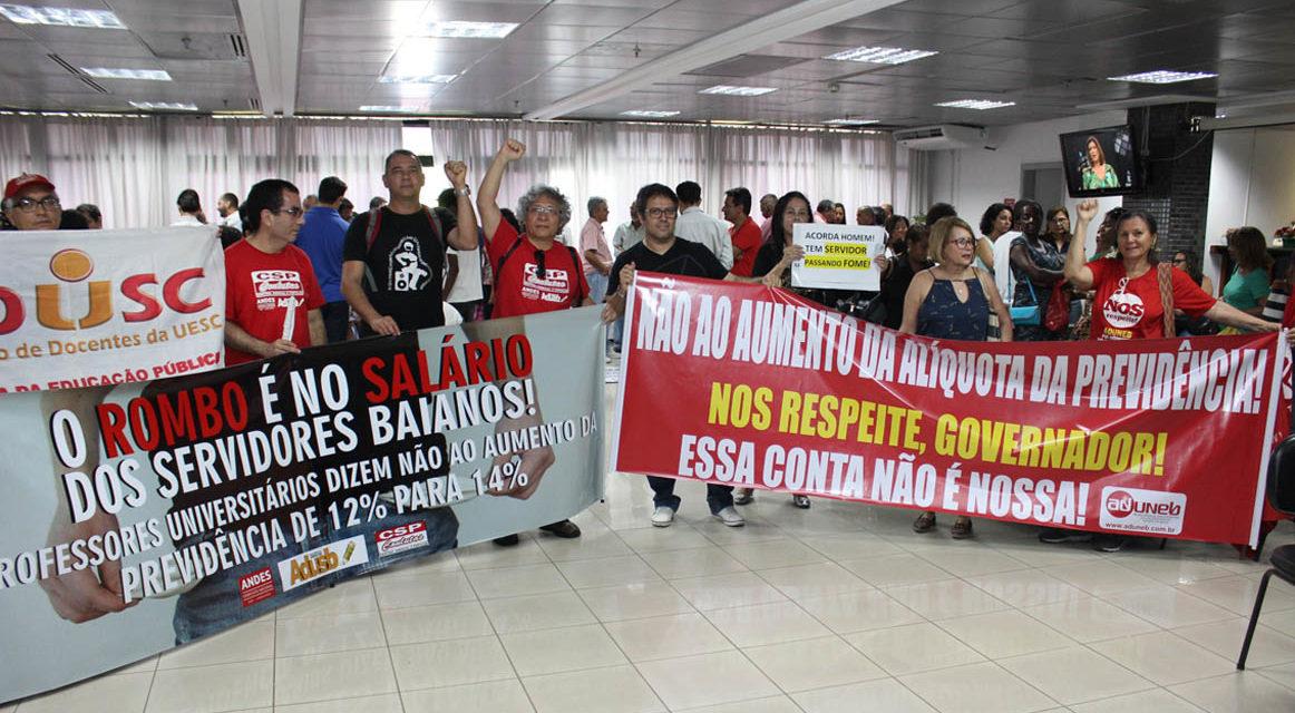 Servidores baianos convocam mobilização unificada para barrar aumento na contribuição previdenciária