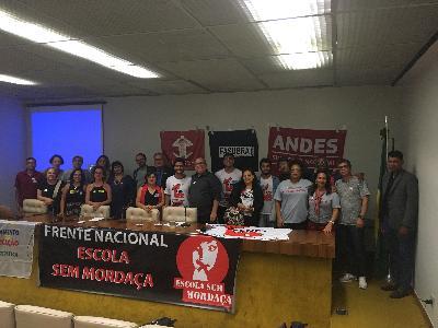 Frente Nacional Escola Sem Mordaça é relançada em Brasília