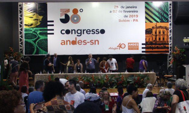 Chamado à unidade marca abertura 38º Congresso do ANDES-SN