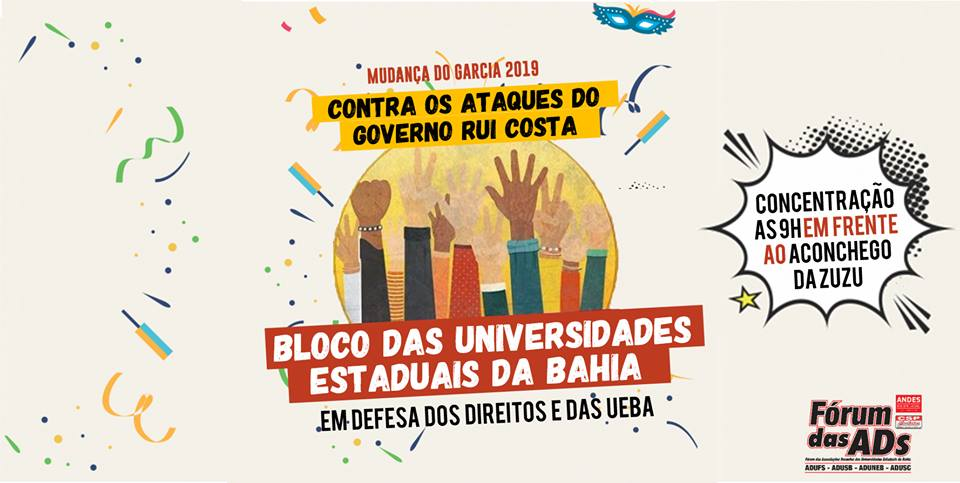 MUDANÇA DO GARCIA – FÓRUM DAS ADS CONVOCA CATEGORIA PARA PARTICIPAR DO BLOCO DAS UNIVERSIDADES ESTADUAIS