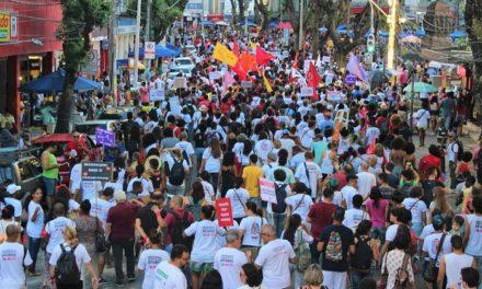 FORÇA DA GREVE: CENTENAS OCUPAM AS RUAS DE SALVADOR E REALIZAM ATO PELO #NEGOCIARUI