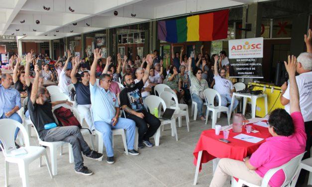 Em greve, professores da UESC aprovam contraproposta e se preparam para mais um ato em Salvador, nesta terça-feira (07)