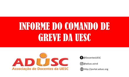 INFORMES DO COMANDO DE GREVE DA UESC 29/05/2019
