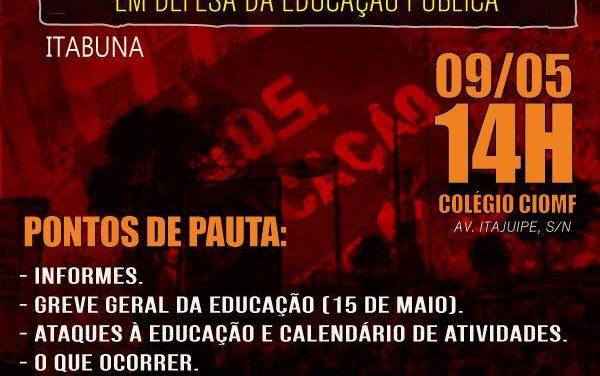 REUNIÃO AMPLIADA, EM DEFESA DA EDUCAÇÃO PÚBLICA