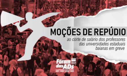 NOTAS DE REPÚDIO AO CORTE DE PONTO DOS PROFESSORES (AS) EM GREVE