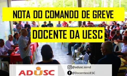 NOTA DO COMANDO DE GREVE DA UESC