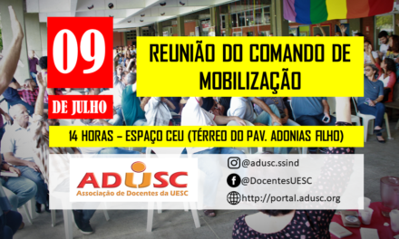 Diretoria da ADUSC convida docentes a compor comando de mobilização