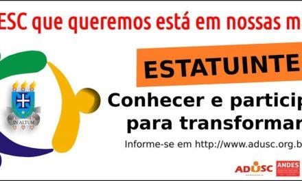 ESTATUINTE: Segunda chamada para eleição de representantes dos servidores técnicos e estudantis acontece nesta quinta-feira (22)