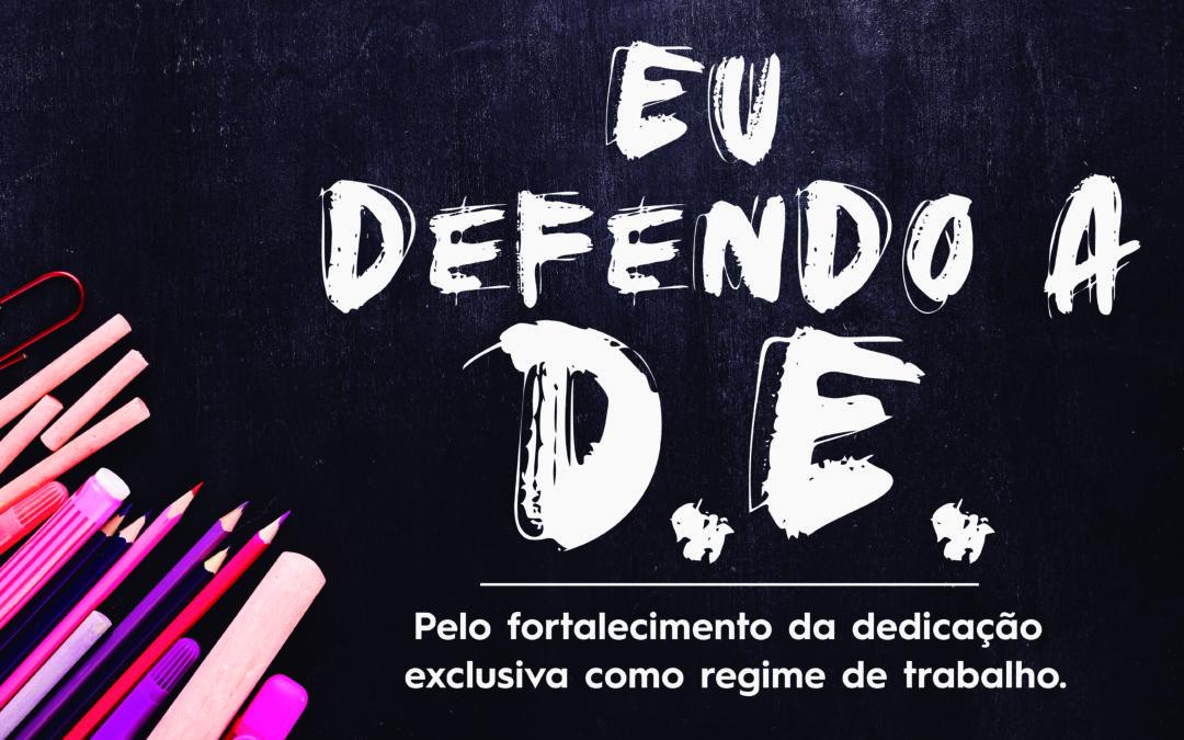 Professores realizam dia estadual em defesa do Regime de Dedicação Exclusiva (DE)