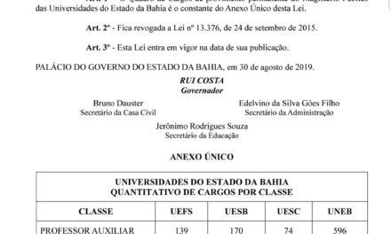Conquista da Greve: Governo sanciona novo quadro de vagas docente