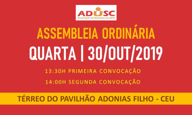 CONVOCAÇÃO DE ASSEMBLEIA: PRÓXIMA QUARTA-FEIRA