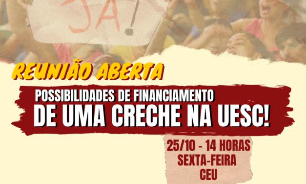 Afusc convida comunidade para reunião aberta sobre a creche universitária da Uesc