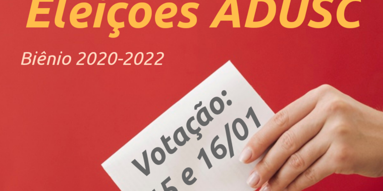 Contagem regressiva para as Eleições da Adusc