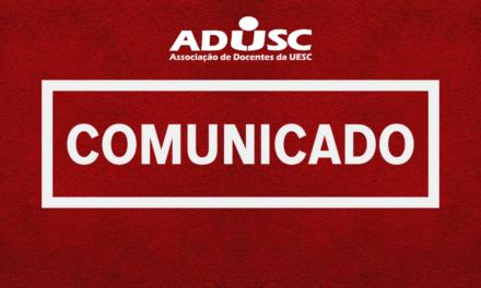 Comunicado: ALTERAÇÃO NO EXPEDIENTE