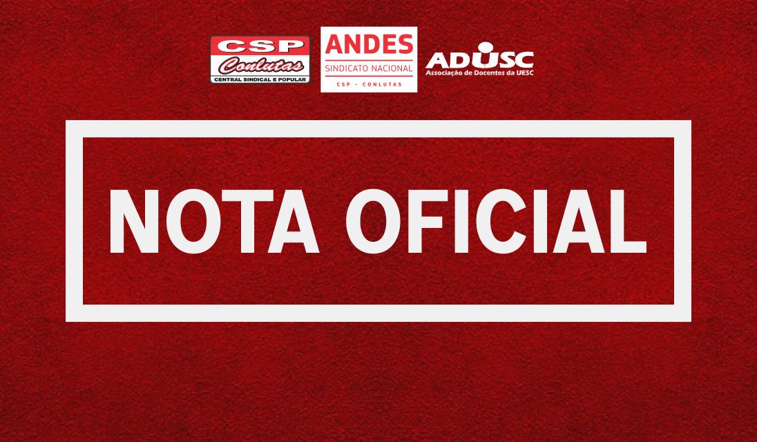 ANDES-SN repudia pronunciamento de Bolsonaro