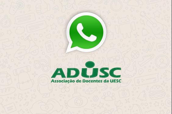 ADUSC lança WhatsApp