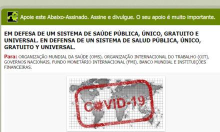Petição pública: Em defesa de um sistema de saúde público, único, gratuito e universal