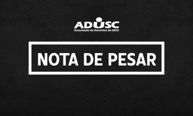 Nota de pesar: Mônica Anjo dos Santos