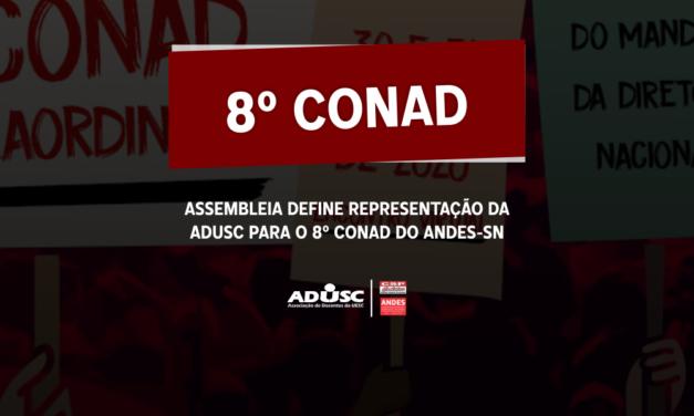 Assembleia define representação da ADUSC para o 8º CONAD do ANDES-SN