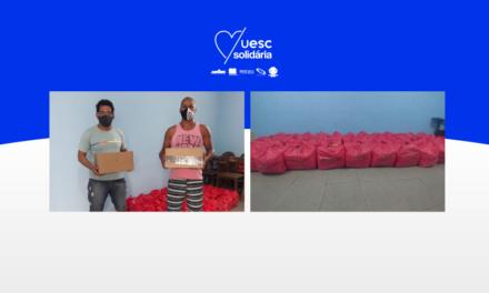 UESC Solidária doa novas cestas básicas e máscaras