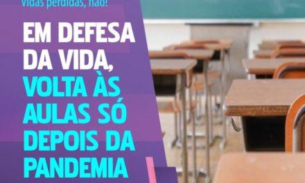 CSP-Conlutas lança campanha contra a volta às aulas