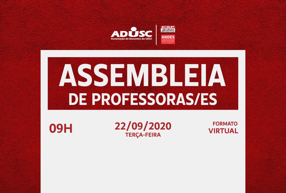 ADUSC convoca assembleia sobre o 9º CONAD