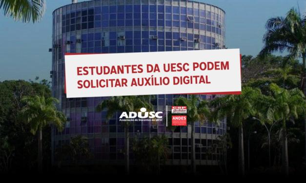Estudantes da UESC podem solicitar Auxílio Digital