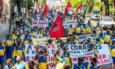 Como resposta à intransigência da empresa no TST, trabalhadores dos Correios fortalecem greve