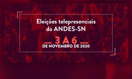 Eleições do ANDES-SN: Divulgação das Chapas