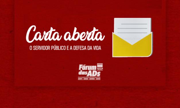 Carta aberta: O Servidor Público e a defesa da vida