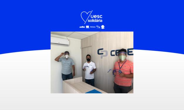 UESC Solidária recebe 50 protetores faciais para doação