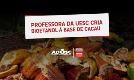 Professora da UESC cria bioetanol à base de cacau