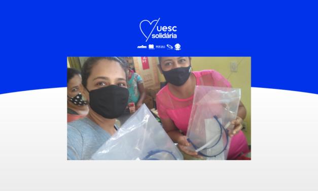 UESC Solidária distribui protetores faciais