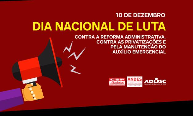 ADUSC participa do Dia Nacional de Luta contra a Reforma Administrativa