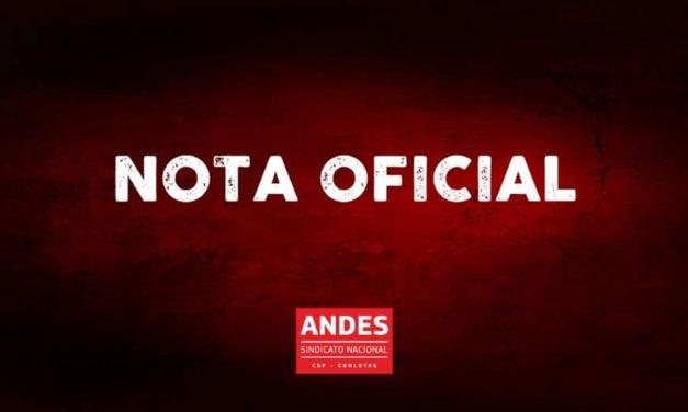 Diretoria do ANDES-SN lança nota em defesa da democracia