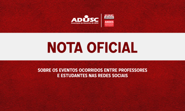 Nota Oficial da ADUSC