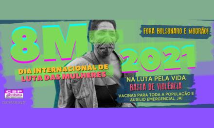 Mulheres trabalhadoras na luta por vacina, auxílio emergencial e políticas de combate à violência machista