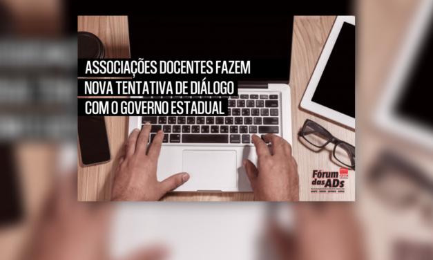 Associações Docentes fazem nova tentativa de diálogo com o Governo Estadual