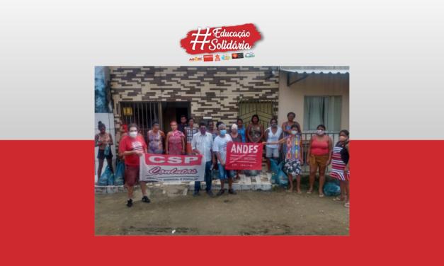 Campanha Educação Solidária realiza nova entrega de cestas básicas em Itabuna