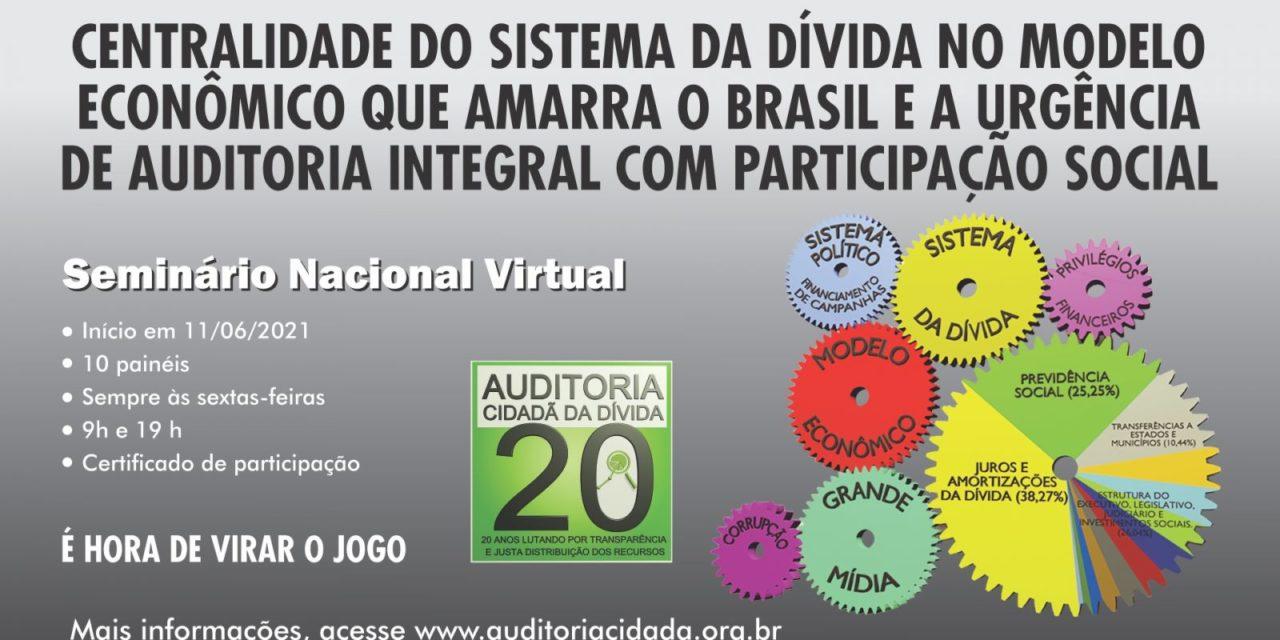 Auditoria Cidadã realiza seminário nacional sobre Sistema da Dívida a partir de sexta (11)