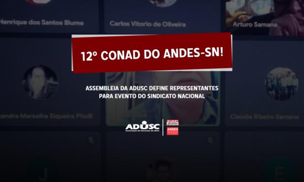 Assembleia define representantes para o 12º Conad do ANDES-SN