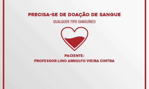 Professor da UESC precisa de doação de sangue