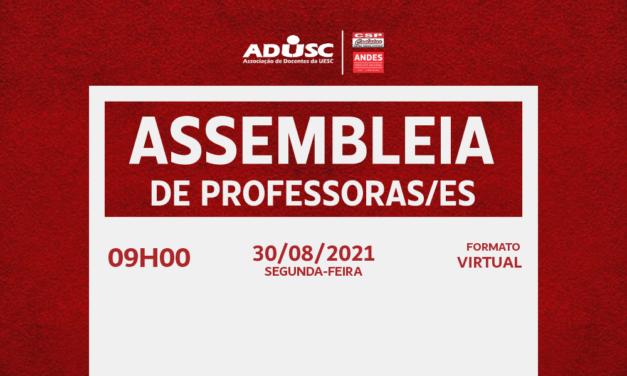 ADUSC convoca assembleia para discutir o PRAEP