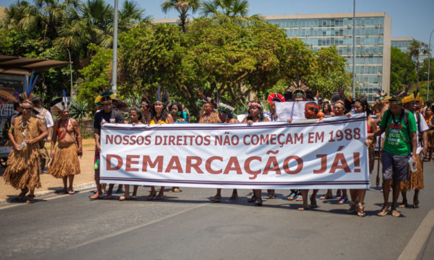 Indígenas preparam acampamento em Brasília para retomar luta contra o marco temporal