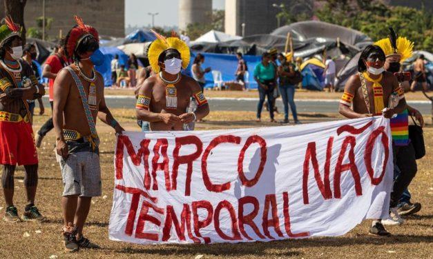 NÃO AO MARCO TEMPORAL E FORA BOLSONARO – Por Casé Angatu
